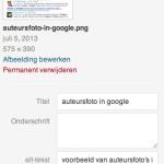 meta informatie meegeven aan afbeeldingen voor Google