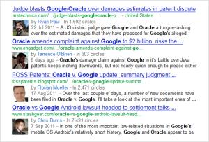 voorbeeld van auteursfoto's in Google