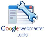 het logo van google webmaster tools