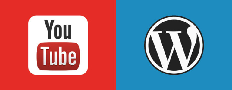 youtube en wordpress logo