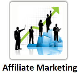 Zakenmannen met affiliate marketing