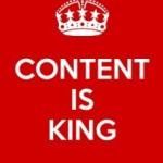 Een gezegde op het internet: content is king