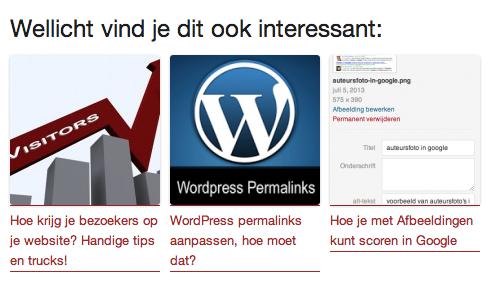 Gerelateerde artikelen WordPress