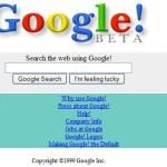 Een screenshot van toen Google nog in de beta was