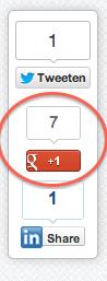 Google Plus 1 knop op Internet Succes Gids.nl
