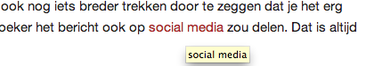 Een voorbeeld van interne links op Internet Succes Gids.nl