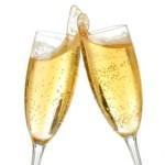 Een tweetal glazen om het nieuwe jaar te vieren :)!