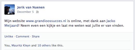 Een positieve reactie van Jerik van Nuenen aan Jacko Meijaard