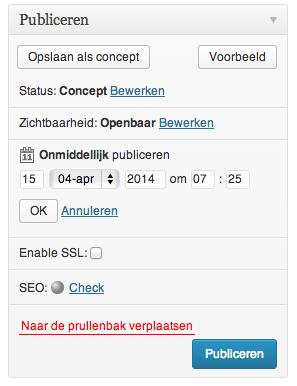 Een WordPress bericht inplannen