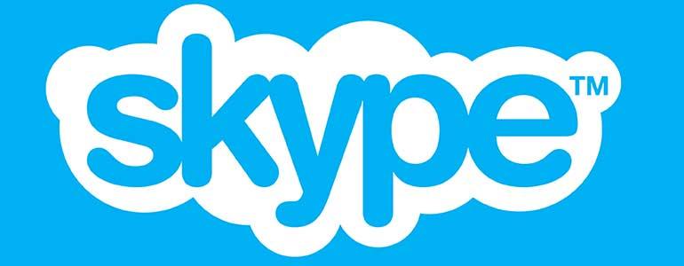 skype logo en widget