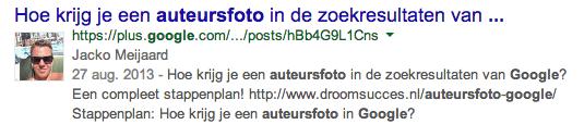 Auteursfoto Jacko Meijaard in Google zoekopdrachten