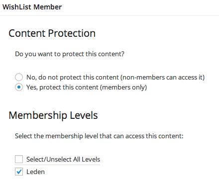 Met WishList Member kun je gebruikers toegang geven tot specifieke pagina's.