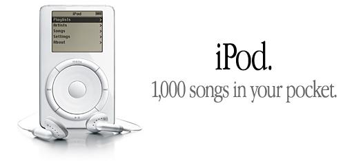 ipod 1000 liedjes