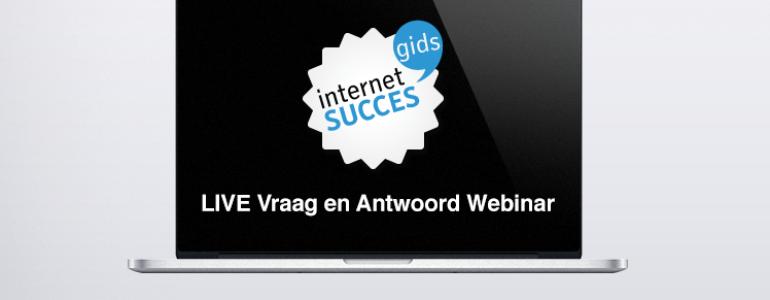 live vraag en antwoord webinar