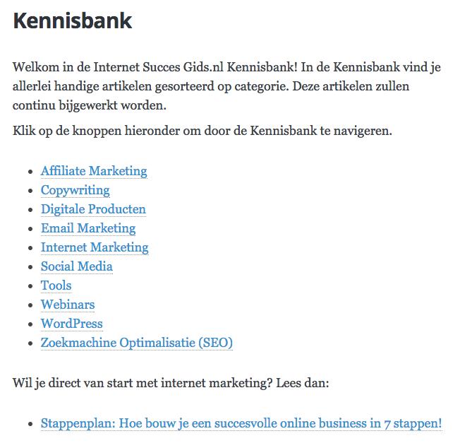 Kennisbank van Internet Succes Gids.nl