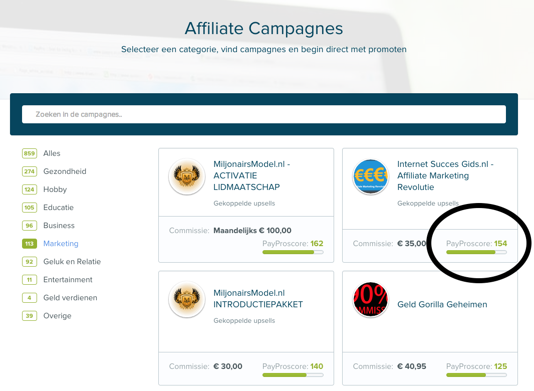 affiliate marketing revolutie in PayPro