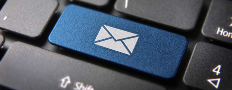 email icoon op toetsenbord