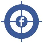 Facebook logo in het vizier