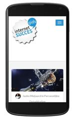 Internet Succes Gids.nl op een smartphone