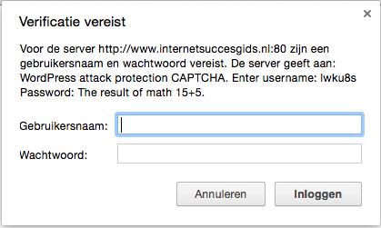capcha beveiliging op internet succes gids.nl