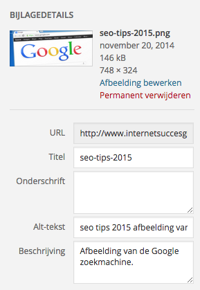 screenshot seo tips 2015 afbeelding