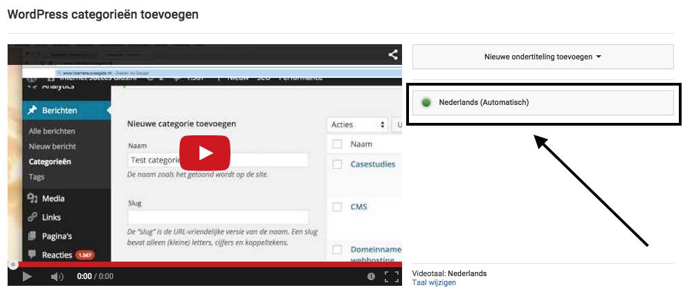 nederlandse Youtube ondertiteling toevoegen
