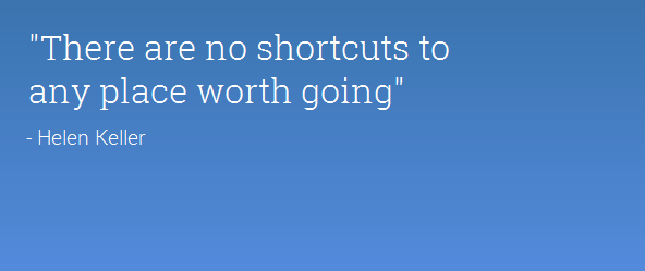 shortcut succes quote