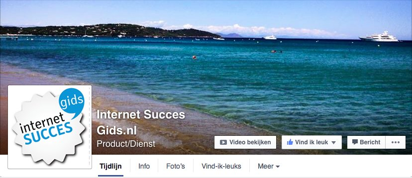 Header van de Internet Succes Gids.nl Facebook pagina.