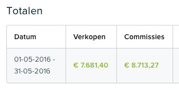 Inkomsten mei 2016.