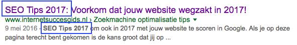 serp resultaten google