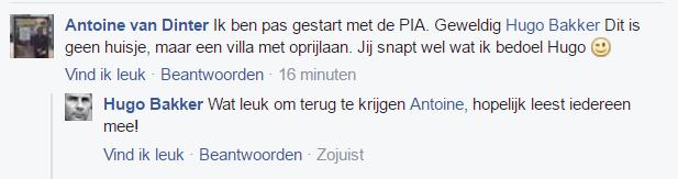 Antoine's reactie op Facebook.
