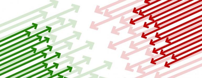 groene en rode pijlen