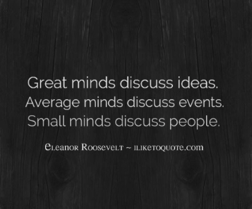 small minds quote
