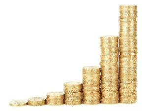 geld munten die meer worden