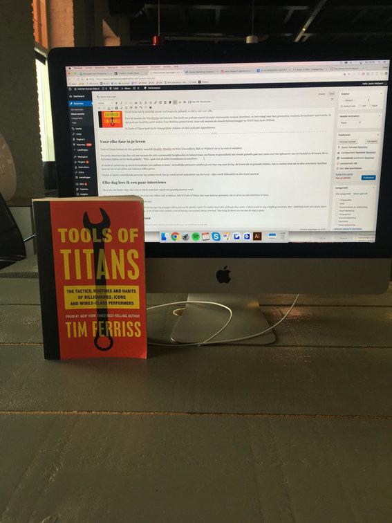 Tools of Titans op kantoor