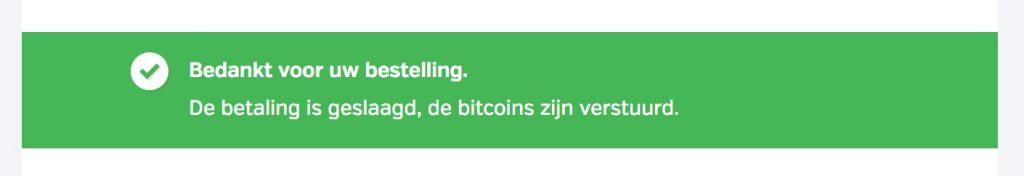 bitcoins verzonden