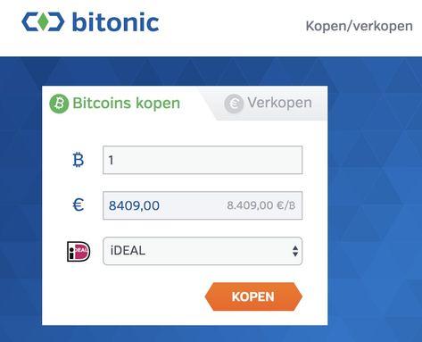 bitcoin met ideal kopen bij Bitonic