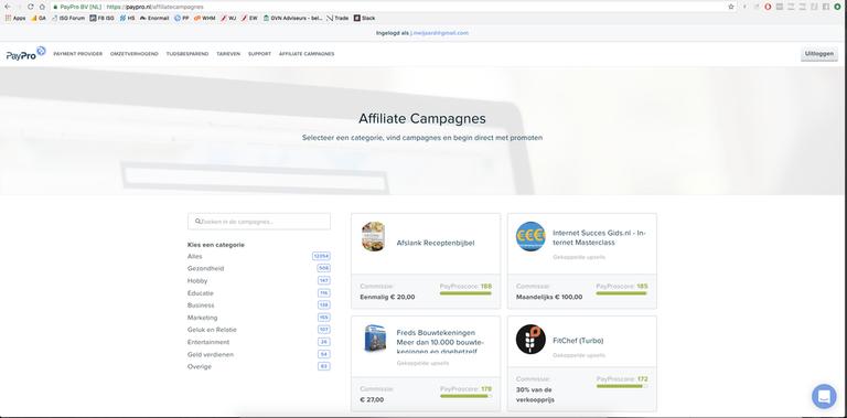 PayPro campagne overzicht