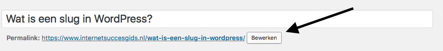 slug aanpassen wordpress
